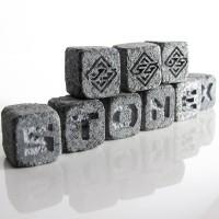 Камни с логотипом для виски