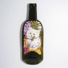 Часы из бутылки. Белый котёнок.