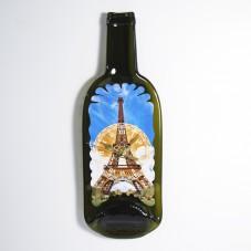 Часы из бутылки. Эйфелева башня.