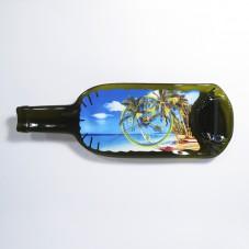 Часы из бутылки. Тропический пляж.