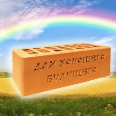 Кирпич в подарок для хорошего будущего