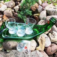 Набор пьяных рюмок на бутылке «Поплыли»