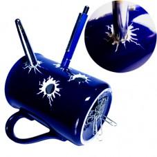 Держатель для ручек — синяя кружка