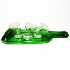 Набор пьяных рюмок на бутылке «Веселая компания»