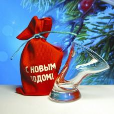Пьяная рюмка «С Новым Годом!»