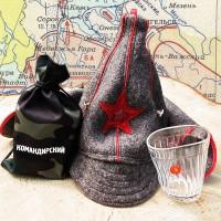 Пьяный стакан «Командирский»