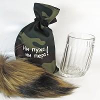 Пьяный стакан «Ни пуха ни пера!»