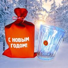Пьяный стакан «С Новым Годом!»